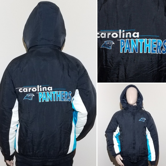 new product 9606d 9b5fc VTG 90s Large Carolina Panthers Winter Coat NFL